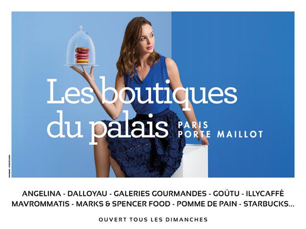 Les Boutiques du Palais, Visuel FOOD.