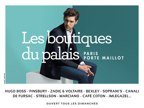 Les Boutiques du Palais, Visuel HOMME.